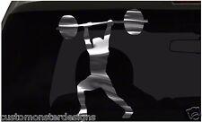 Weight Lifting sticker Gym Sticker All size regular & Chrome Mirror Vinyl Colors