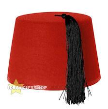 RED FEZ KUKI HAT ADULTS MOROCCAN TURKISH EMERALD TASSEL ACCESSORY FANCY DRESS
