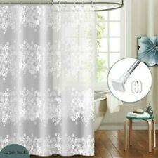 EVA Floral Bathroom Shower Curtains Thicken Translucence Bath Curtain Waterproof