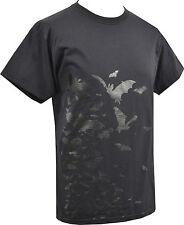 Para hombre Negro T-Shirt Rebaño De Murciélagos Whitby Gótico Drácula Vampiro Horror S - 5XL