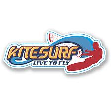 2 x kite surf Vinyle Autocollant Surf Wakeboard Portable Voiture Cadeau decal Wave # 4365