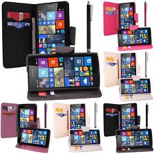 Etui Support Video Cuir PU Effet Tissu Microsoft Nokia Lumia 535/ 535 Dual SIM