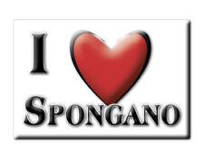 CALAMITA PUGLIA ITALIA FRIDGE MAGNET MAGNETE SOUVENIR I LOVE SPONGANO (LE)