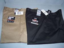 Mens Docker Signature Khaki Relaxed Fit Pleated Pants Black, Khaki,Lt BrownNWT