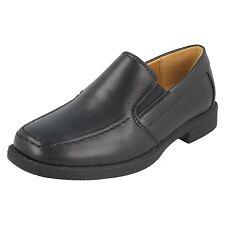 sympa GARÇONS 4 ECOLE SOUFFLET Jumeaux Noir à enfiler chaussures style - N1115