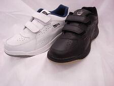 DEK/Ascot Arizona Leather Two Strip  Wide Fitting Trainers White Black 13 14 12