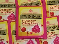 Twinings Cranberry and Raspberry - individual envelope tea bags - FREE UK P&P