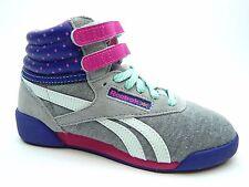 REEBOK SOFIA FREESTYLE Grey Purple Pink mint V66448 SHOES SIZE 10.5 TO 1.5