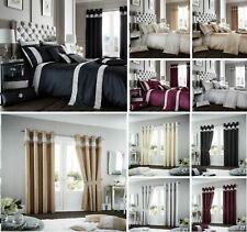 Luxuries OXY DIAMANTIE Sequin Faux Duvet Cover Set + Pillow Case Or Curtains Gc