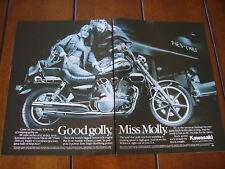 1987 KAWASAKI VULCAN 88 **ORIGINAL 2 PAGE AD / POSTER**