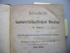 Zeitschrift landwirtschaftlicher Verein Bayern 1868