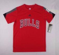 Adidas NBA basketball Boy Chicago Bulls Short Sleeve Performance tee sz M, L, XL