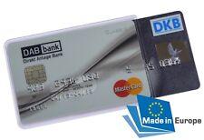 EC Kartenhülle Doppelbox für 2 Bankkarten Transparent STABIL Kreditkartenhülle