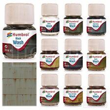 Humbrol Enamel Wash Model Paints Weathering Pigment Oil Grime Dirt Black Washes