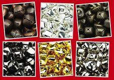UK SUPPLIED - Cat Metal Jingle Bells in Six Colours, 6, 8 & 10mm Various Packs