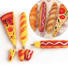 JZ_ Pizza Hot Dog Bread Ballpoint Pen Magnetic Fridge Sticker Home Decor Natur