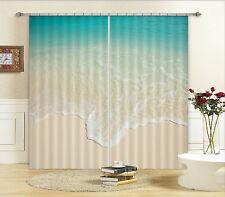 3D Klar Strand 677 Blockade Foto Vorhang Druckvorhang Vorhänge Stoff Fenster DE