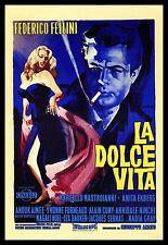 La Dolce Vita FRIDGE MAGNET 6x8 Classic Italian Movie Poster Canvas Print