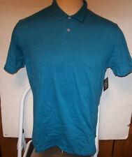 NEW VOLCOM polo style shirt small medium large soft solid blue short sleeve
