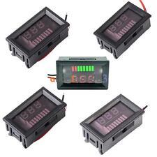 Charge Level Red/Blue Indicator Voltmeter for 6/12/24/36/48V Lead-acid Battery