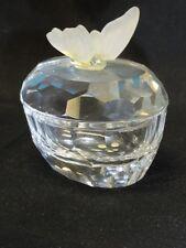 SWAROVSKI * Crystal Trinket Box with Butterfly 7466