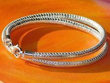 Ladies Metallic Silver Nappa leather & sterling silver bracelet by Lyme Bay Art