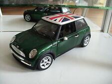 Hotwheels 2001 Mini Cooper in Green on 1:18
