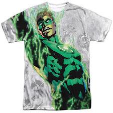 Green Lantern Light Em Up Sublimation Licensed Adult T Shirt