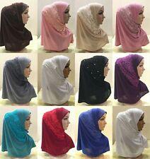 Women Head Scarf Muslim One Piece Amira Hijab Islamic Shawl Wrap Arab Head Wrap