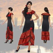 flamencokleid CARMEN Spagnola Costume HOLLY Abbinamento di CARNEVALE