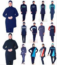 Muslim Swimwear Women Blue Full Modesty Swim Swimsuit Islamic Girls Maxi Burkini