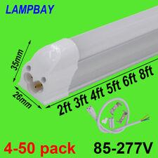 LED Tube Light 2ft 3ft 4ft 5ft 6ft 8ft Slim Bar Lamp T5 Integrated Bulb Fixture