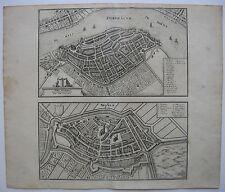 Dordrecht Vogelschauplan Bird's Eye View Kupferstich Merian1646 Niederlande