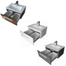 Badmöbel Set 60cm Waschbecken mit Unterschrank Waschtisch Schublade 3 Farben