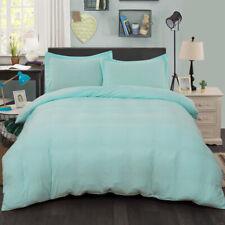 Soft Quilt Doona Cover Set Double/Queen/King Size Bed Aqua Duvet Covers