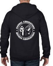 ANIMAL LIBERATION HUMAN LIBERATION FULL ZIP HOODIE - Vegetarian Vegan T Shirt