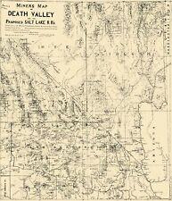 Old Mining Map - Death Valley Miner, Salt Lake Railroad California 1903 - 23x26