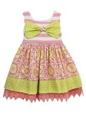 Rare Editions Pink Green Mixed Print Dress  2T/2 3T/3 4T/4