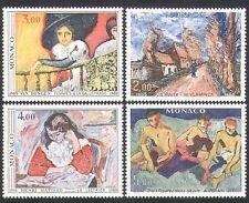 MONACO 1980 Arte Artisti Dipinti///Matisse/VAN DONGEN/VLAMINCK 4v Set (n34219)