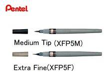 Pentel Calligraphy brush Fude pen Pigment Black Ink Choose from 2 Type
