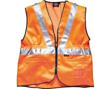 Dickies HI VIS chaleco Visibilidad Cremallera Rail Railway NARANJA Clearance