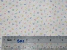 Choose* design ABC school alphabet cotton quilting fabric *size
