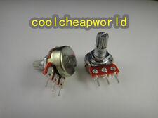 50pcs B50K 50K OHM Linear Taper Rotary Potentiometer Pots Shaft 15mm