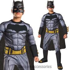 CK669 Batman vs Superman Dawn of Justice Deluxe Batman Boys Fancy Dress Costume