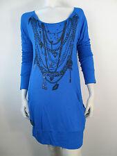 Gio-Goi Kleid Kleed Dress Jurk Faith Luna Blau Neu XS S M