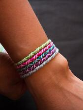 LOT DE 5 Bracelets Brésiliens - FRIENDSHIPS BRACELETS / 16cm /Ajustable /NOUVEAU