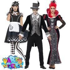 Adult Halloween Gothic Alice Hatter Wonderland Mens Womens Fancy Dress Costume