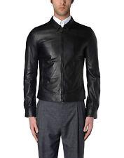 DE Herren Lederjacke Biker Men's Leather Jacket Coat Homme Veste En cuir R56c