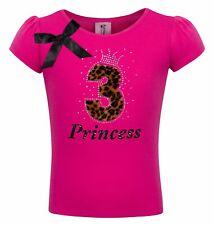 3rd Birthday Girl Shirt Pink Cheetah 3 Personalized Name