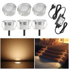6er 10er 1W LED Leuchte Boden Einbaustrahler Außenlampe Garten Flur wasserdicht